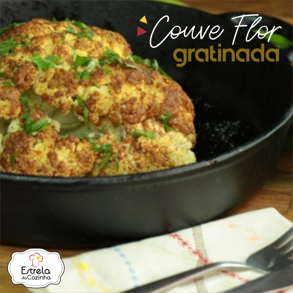 You are currently viewing Couve Flor Gratinada