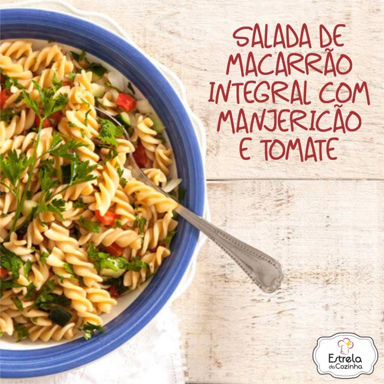 Read more about the article Salada de macarrão integral com manjericão e tomate