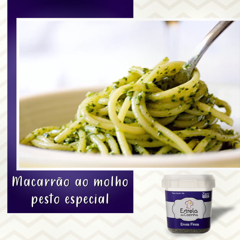 Read more about the article Macarrão ao molho pesto especial