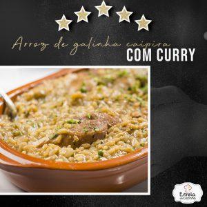 Arroz de galinha caipira com curry