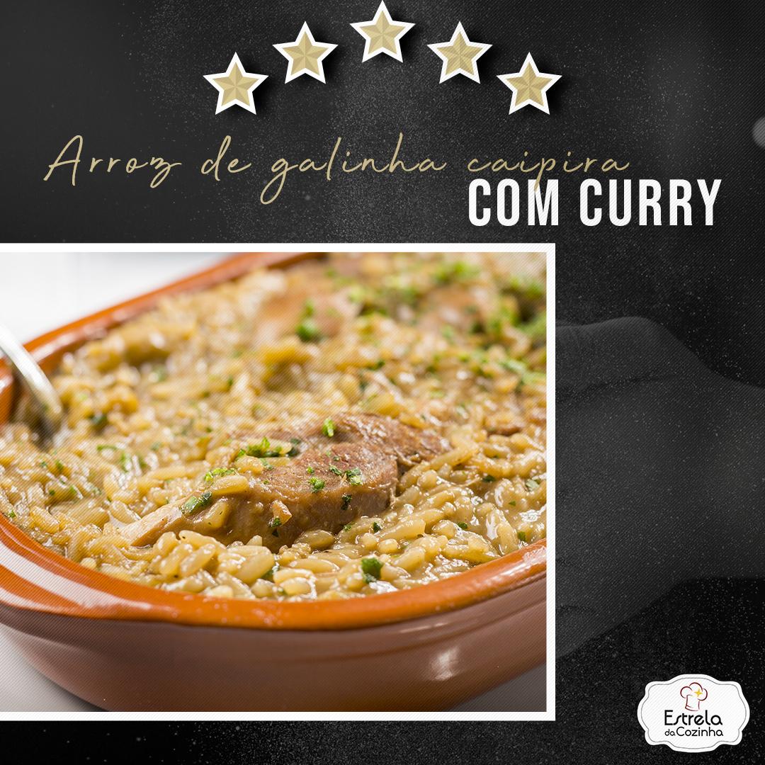 You are currently viewing Arroz de galinha caipira com curry