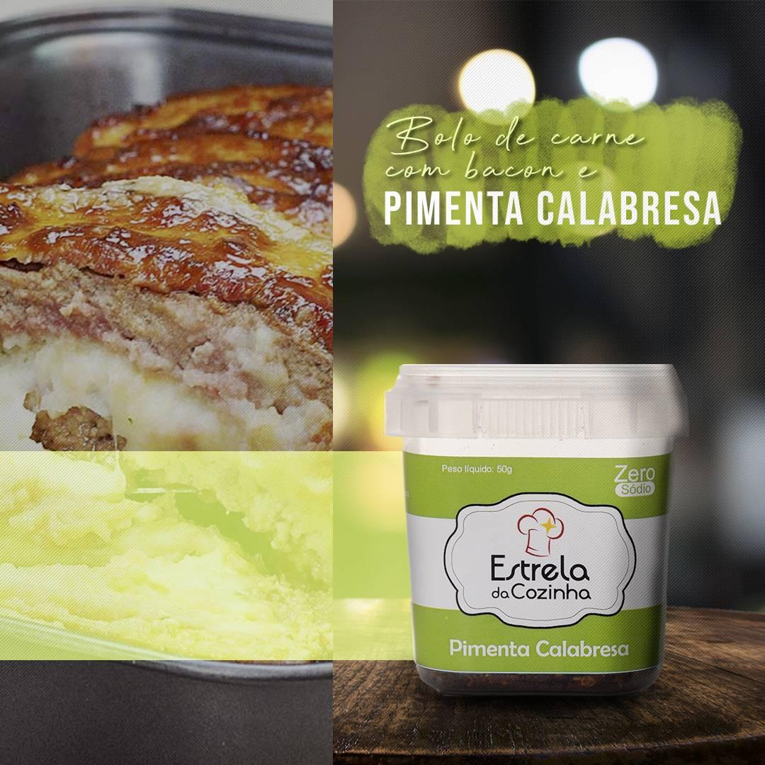 You are currently viewing Bolo de carne com bacon e pimenta calabresa