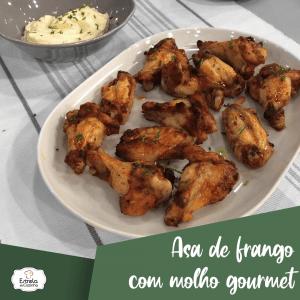 Asa de frango com molho gourmet